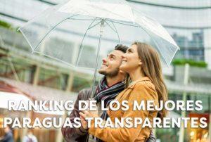 Paraguas transparentes para disfrutar de los días de lluvia